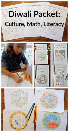 Story of Diwali Packet for Kids: fabulous multicultural learning for kids to learn about Diwali through cultural activities, reading, and math.