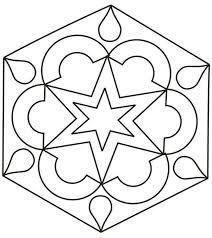 Resultado de imagen para vitrales sencillos para colorear de figuras geometricas