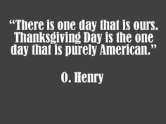 An american holiday!
