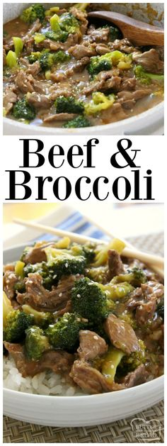 Beef and Broccoli recipe with sliced beef in a flavorful sauce with garlic, ginger & fresh broccoli. Simple to make & tastes like it's from a restaurant! Easy #Beef and #Broccoli #Asian style #recipe for #dinner Butter With A Side of Bread