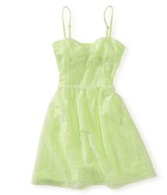 Neon Lace Dress from Aéropostale