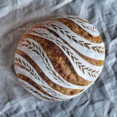 Pan con corteza artística Sourdough Recipes, Sourdough Bread, Bread Recipes, Bread Dough Recipe, Bread Shaping, Bread Art, Bread And Pastries, Food Staples, Breakfast Bake
