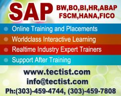 SAP Training Online - SAP Online Training and placement: Tectist provide the best SAP Online Training by real time experts. http://www.tectist.com/sap-online-training.html #saponlinetraining #saptrainingcourses #onlinesapcourses