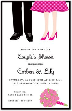 Couples Shower Invitations, Couples Feet, 19778