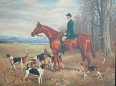 James Watson Webb II (known as James, Sr.) – March was an American polo champion and grandson of William Henry Vanderbilt and James Watson Webb. Hunting Art, Fox Hunting, Old Paintings, Beautiful Paintings, Shelburne Museum, James Watson, Forms Of Poetry, Tally Ho, Most Beautiful Animals