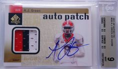 2011 A.J. Green SP Authentic 3 Clr RC Rookie Patch Autograph 2 BGS 9 10 / .5 from 9.5 by Upper Deck. $300.00. 2011 A.J. Green SP Authentic 3 Clr RC Rookie Patch Autograph 2 BGS 9 10 / .5 from 9.5