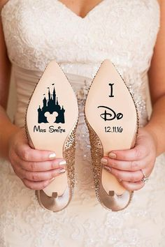 Personalised Disney Wedding Shoe Vinyl Sticker Decal With Name & Date Decorations| Bridal shoe |Bridesmaid| I Do| Disney Wedding| Destination Wedding| Wedding Shoe Decals #ad #disney #weddingshoes