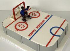hockey cake- for my little goalie
