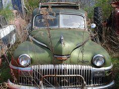 1948 De Soto Suburban car made by Chrysler Corp. Just rusting away!