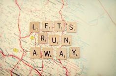 let's run away art print   shannonblue