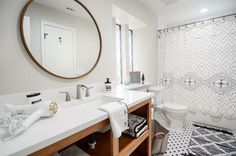 I love how it turned out! #anthropologie #farmhouse #bathroomremodel #hearthandhand