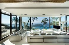 With stunning views over the Cap Ferrat, this bayview villa is located in Villefranche-sur-Mer, Côte d'Azur, on the French Riviera. Located a mere 15 minutes away from Monaco, this luxurious villa provides utter comfort to its guests; its interior design, based on monochromes and neutrals, exudes elegance and style.