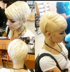 8 More Popular Hairstyles You Should Try: Chic Shaved Pixie Haircut Very Short Hair, Short Straight Hair, Short Hair With Layers, Short Hair Cuts, 2015 Hairstyles, Trendy Hairstyles, Side Hairstyles, Pixie Cut Styles, Short Hair Styles