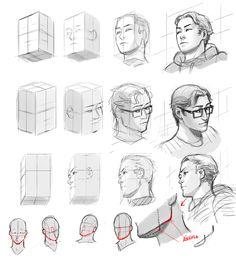 Dibujando en perspectiva (1): La cabeza | Concurso Manga                                                                                                                                                                                 Más