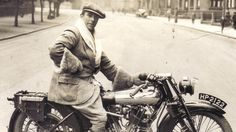 George Brough on one his Brough Superior bikes. Brough continued to ride his motorbikes until he was about 60-years-old