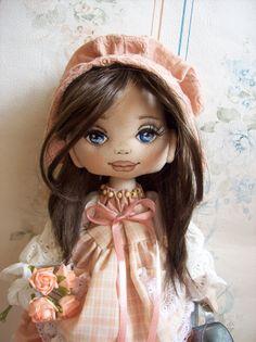 Amanda doll  Textile doll  Art doll  Doll  Home by TrixiCreation
