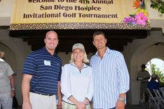 #Sports #Celebrities Making a Difference! MLB Players Mark Sweeney and Trevor Hoffman join San Diego Hospice CEO Kathleen Pacurar at annual fundraising Golf Tournament. @Linda Jones