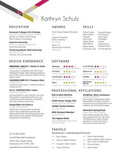 12 best Interior Design Intern Resume Templates for Katie images on ...