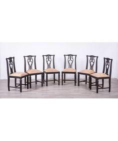 Sillas Antiguas Restauradas Noir  #barato #mueblesbaratos #mueblesrebajados #liquidacion #sale #muebles #sillas #sillasbaratas Dining Bench, Dining Chairs, Home Interior, Furniture, Home Decor, Cheap Furniture, Wooden Chairs, Solid Wood, Refurbished Furniture
