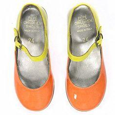 Pepe Yellow/Orange Mary Jane - Ladida