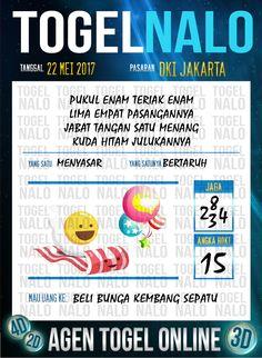 Paito JP 5D Togel Wap Online TogelNalo DKI Jakarta 22 Mei 2017