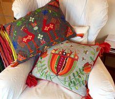 Grannlåtsbroderi 2015 - 2016 / Tiina K.---baubles Embroidery