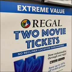 Theater Tickets, Movie Tickets, Two Movies, Movie Theater, Retail, App, Gift, Cards, Cinema