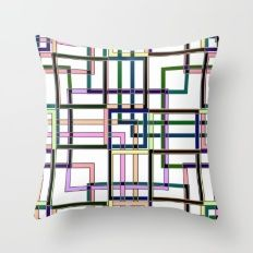 Abstract geometric pattern. Throw Pillow