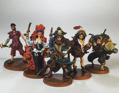 complete Wellsport Brotherhood from Rum and Bones. I need to get busy since they are doing a next addition on Kickstarter Tabletop Games, Rum, Pirates, Board Games, Bones, Miniatures, Creative, Instagram Posts, Gifts