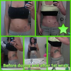 Before during and after first wrap
