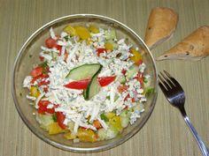 Pasta Salad, Cobb Salad, Cooking Recipes, Healthy Recipes, Healthy Food, Guacamole, Food And Drink, Rice, Vegetables