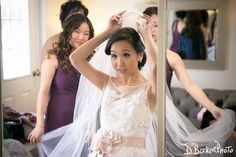 Nancy getting ready with her bridesmaids in the newly renovated Florentine bridal suite.  @dbeckerphoto
