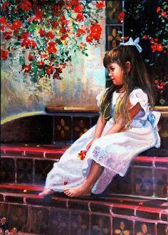 """Daydreaming"" -- by Nelda Pieper, American"