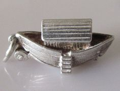 Vintage Silver Nuvo Noah's Ark Charm Opens to Animals by TrueVintageCharms on Etsy