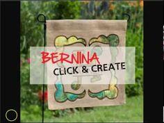 How to Create a Burlap Garden Flag - Cutting, Ironing - DIY - YouTube