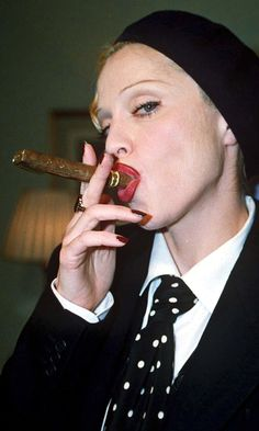 Madonna Smoking A Cigar At The Hyde Park Hotel In London, 1992