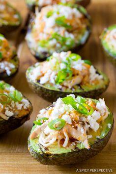 Grilled Tex Mex Stuffed Avocado Recipe (Low Carb & Gluten Free!) ASpicyPerspective.com