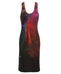 Galaxy print silk tank dress by Christopher Kane.