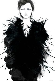 Fashion Illustration - Tracy Turnbull by Tracy Turnbull, via Behance