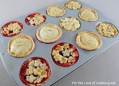 For the Love of Cooking » Mini Lemon Pies and Mini Cherry Pies