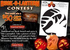 Legendary Whitetails Buck Pumpkin stencil