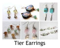 Tier Earrings Pattern by KimberlieKohler on Etsy Shops, Beaded Jewelry, Unique Jewelry, Earring Tutorial, How To Make Earrings, Jewelry Patterns, Jewelry Crafts, Drop Earrings, Beads