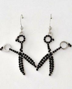 #Black #Rhinestone #Scissor Dangle #Earrings #Jewelry #Beauty #Fashion $18.00 #Hair #Salon #Stylist  http://www.shearbling.com/catalog.php?item=111