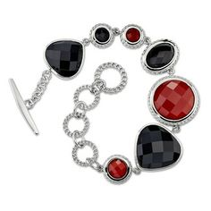 Red & Black Agate Bracelet, 8in.  at DarcysFineJewelers.com    $495
