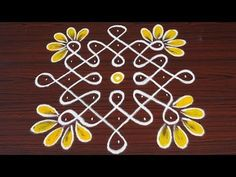 2 different Sikku kolam with and dots Simple Rangoli Border Designs, Rangoli Designs Latest, Rangoli Designs Flower, Free Hand Rangoli Design, Rangoli Borders, Small Rangoli Design, Rangoli Patterns, Rangoli Ideas, Rangoli Designs Diwali