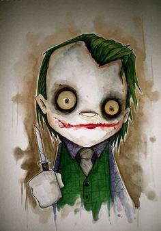Joker comic art.