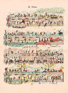 Doodles on sheet music  http://www.reddit.com/r/Art/comments/1zplar/doodles_on_sheet_music/