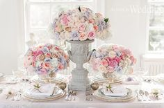 Parisian Princess - Trends come and go, pink will forever be the color to remind us of our childhood fairy tales and all things 'girly'.  Wedding Styling and Décor: Paige Lewis Events/ Cakes: Connie Cupcake China/Tableware: William Ashley China