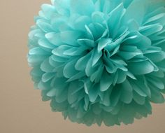 Tiffany Inspired Party Poms - Maybe these if the balloon idea doesn't work Bleu Tiffany, Tiffany Blue Party, Verde Tiffany, Azul Tiffany, Tiffany Wedding, Aqua Wedding, Trendy Wedding, Shades Of Teal, Aqua Color