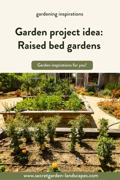 Garden project idea: raised bed garden by Secret Garden Landscapes. Take your garden outside and do a raised bed garden to level up your plants. Need help? We specialize in raised bed gardening, gardening, outdoor gardens, backyard gardens and garden planning. #raisedbedgarden #gardening #outdoorgardens #backyardgarden #gardeninspiration #gardenideas Backyard Garden Design, Garden Landscape Design, Landscape Plans, Backyard Patio, Backyard Landscaping, Raised Bed, Raised Garden Beds, Farm Gardens, Outdoor Gardens